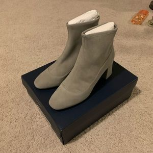 Cole Haan Grey Laree Stretch Suede Booties